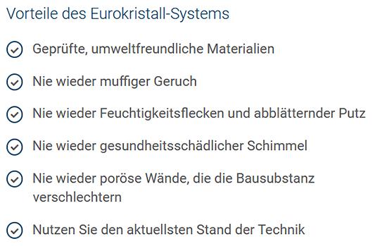 Eurokristall-Abdichtungssystem in  Obrigheim