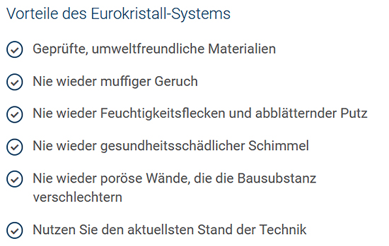 Eurokristall-Abdichtungssystem